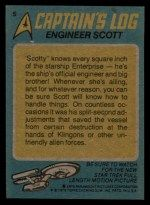 1976 Topps Star Trek #5  Engineer Scott  Back Thumbnail