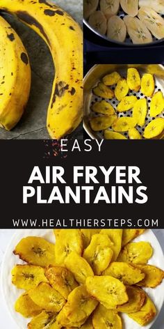 Prepare Air Fryer Plantains and cut back on the calories that are in traditional fried plantain. Sweet, plump and delicious plantains slices are the perfect low-calorie side dish or snack. Banana Plantain Recipe, Plantain Recipes, Banana Recipes, Fried Plantain Recipe, Vegan Cabbage Recipes, Vegetarian Recipes, Healthy Recipes, Healthy Meals, Healthy Eating
