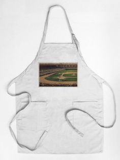 Chicago, Illinois - Comiskey Park, Home Plate, Baseball - Vintage Photograph (Cotton/Polyester Chef's Apron), Multi