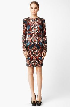 Alexander McQueen Stained Glass Print Jersey Dress available at #Nordstrom