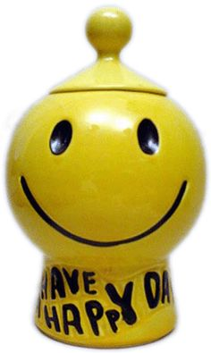McCoy Pottery Smiley Face Cookie Jar