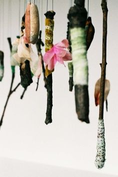 Wrapped twigs