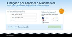 MindMeister - Processo de Inscrição Processo de Inscrição - Passo 2