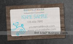 Are you looking for a business card to help promote your skincare business? Use a custom business card to show everyone you are a professional in your