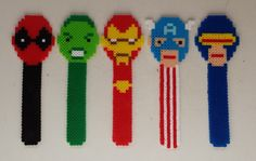 Week 10, Day 64, Marvel.  Perler Beads 365 Day Challenge.