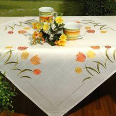 Napkins, Embroidery, Projects, Tablecloths, Casamento, Christmas Wood, Daisies, Punto Cruz, Ganchillo