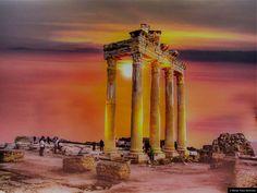© Blende, Klaus Bechmann, Side, Abend am Tempel des Apollo