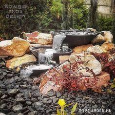 Csobogó a kertben Outdoor Furniture Sets, Outdoor Decor, Gardening, Land Scape, Beautiful Gardens, Firewood, Crafts, Design, Porches