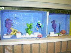 www.jufjanneke.nl | De mooiste vis van de zee (lesideeën) Wordpress, Reading Room, Aquarium, Crafts For Kids, Ocean, Fish, Drawings, School, Investigations