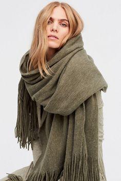 oversized fringe scarf