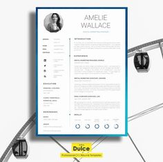 Resume Template CV Template Single Page Professional CV Resume Tips, Resume Cv, Resume Design, Resume Examples, Cv Design, Business Resume, Resume Ideas, Manager Resume, Resume Format