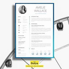 Resume Template | CV Template by introDuice - CV Templates on @creativemarket