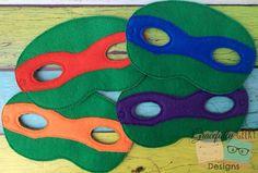 Turtle Felt Mask Embroidery Design  5x7 Hoop or by GracefullyGeeky, $6.00