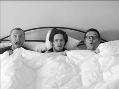 Simon Pegg, Edgar Wright and Nick Frost