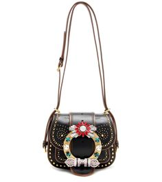mytheresa.com - Embellished leather shoulder bag - Luxury Fashion for Women…