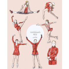 Figure Ice Skates, Figure Skating, Yulia Lipnitskaya, Ice Skaters, Cool Poses, Olympians, Cute Drawings, Fanart, Moon