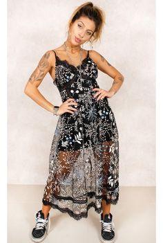 Vestido Fancy to Party Preto Fashion Closet - fashioncloset