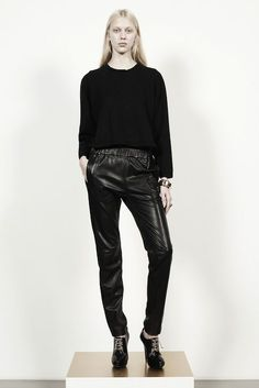 Runway Trend Alert: Leather Sweatpants! Would You Wear Them?