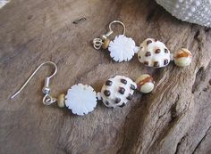 tropical elegance. shell earrings hawaiian shells by beadshawaii