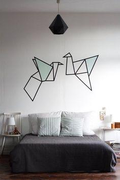 E se você tiver mais habilidades pode até tentar um desenho mais elaborado. | 20 dicas para decorar sua casa em 2016 gastando quase nada
