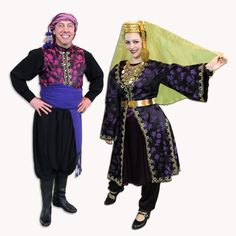 The traditional dress of a Lebanese man and woman