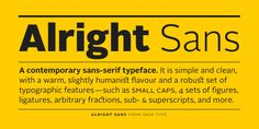 Alright Sans by Jackson Cavanaugh