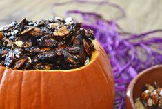 Nothing says Halloween quite like Roasted Pumpkin Seeds. What if they could say Halloween even louder by being blackened, sweet, sticky and spicy? You've gotta click here and go see this amazing recipe.