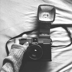 camera, black and white, and photography -kuva