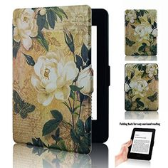 2015 and 2016 Versions Kindle Paperwhite 300 PPI,K5-10 The Library 2013 Ayotu Colorful Case for Kindle Paperwhite Thinnest and Lightest PU Leather Smart Cover Auto Wake//Sleep,Fits All 2012