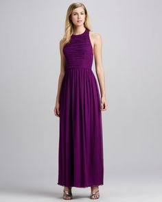 Runnie Leather-Back Maxi Dress by Alice + Olivia at Neiman Marcus.