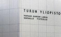 Turun yliopistoon pääsi 14 prosenttia hakijoista. Letter Board, Boards, Lettering, Planks, Drawing Letters, Brush Lettering