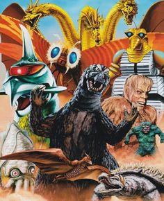 Godzilla and other kaiju