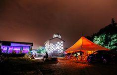 Genius Loci Club @ Genius Loci Weimar 2013 Facade projection festival // Location: Gaswerk Weimar // VJ - DJ - Installtions // Photo: www.henry-sowinski.info Genius Loci, Facade, Dj, Patio, Club, Wall, Outdoor Decor, Home Decor, Weimar