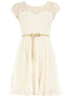 Ivory lace bridesmaid dress