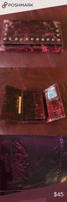 Patrica Nash Wallet Beautiful leather in a berry color. Brand new, never used. Patricia Nash Accessories