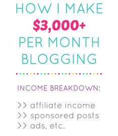 How I Make $3000+ Per Month Blogging ~ July 2015 Income Report