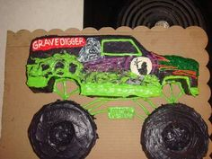 digger cake template - monster truck halloween pinterest monster trucks
