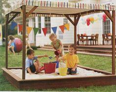 30 delightful ideas on how to build a sandbox yourself - Garten/draußen - Build A Sandbox, Kids Sandbox, Play Area Garden, Game Room Kids, Outdoor Play Spaces, Wendy House, Christmas Yard Decorations, Summer Fun List, Indoor Activities For Kids
