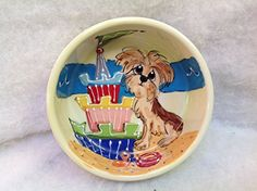 Pet Bowl 6 Dog Bowl for Food or Water Personalized at no Charge Signed by Artist Debby Carman -- Check this awesome product by going to the link at the image. Pet Bowls, Image Link, Dog, Pets, Awesome, Water, Check, Artist, Amazon