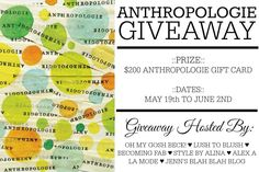 Enter to Win a $200 Anthropologie Gift Card!