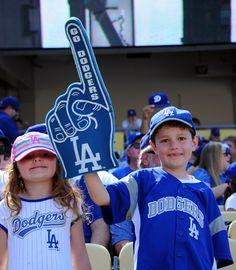 Dodger fans at home opener, April 12, 2016