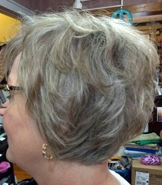 Short haircut for 55 and over