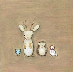 jackalope and friends | print by creativethursday