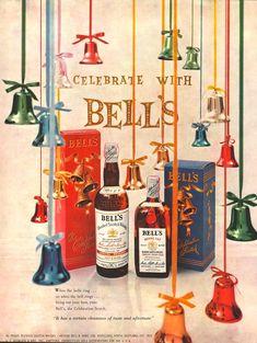 Calvert Whiskey tin rétro en métal ALUMINIUM SIGNE VINTAGE AD shabby chic