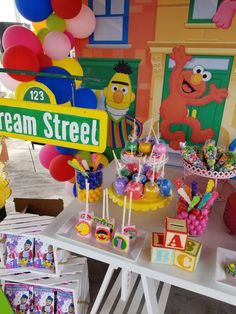 Exotic Events's Birthday / Sesame Street - Photo Gallery at Catch My Party King Birthday, 1st Boy Birthday, 1st Birthday Parties, Birthday Ideas, Sesame Street Cake, Sesame Street Birthday, Abby Cadabby, Party Themes, Party Ideas