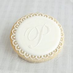 Monogram cookie idea