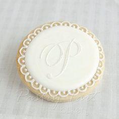 Monogram cookie idea