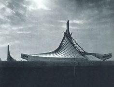 Yoyogi National Gymnasium, Tokyo, Japan, Kenzo Tange, 1964.