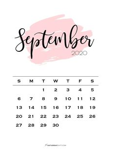 Looking for some cute, free printable September 2020 calendars? Here are some you might like! Choose your favorite from the pretty calendar designs! #printablecalendar #calendar2020 #September #freeprintables #printout #cutecalendar #calendar Cute Calendar, Print Calendar, Kids Calendar, Calendar 2020, Calendar Pages, Planner Pages, Planning Calendar, Wall Calendars, Blank Calendar