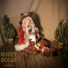 Mrs Santa Claus - Santa Claus Doll - Art Doll - Doll - Mother Christmas - Christmas Doll - Scandinavian Santa - Winter Decor - Christmas - by RustyDolls on Etsy Christmas Christmas, Art Dolls, Scandinavian, Santa, Fur, Winter, Handmade, Etsy, Decor